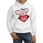 I Love Pigs Hooded Sweatshirt
