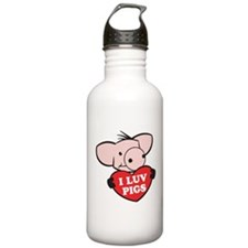 I Love Pigs Water Bottle