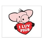 I Love Pigs Small Poster