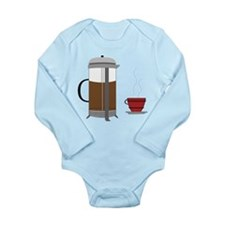 Coffee Press Long Sleeve Infant Bodysuit