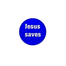 Cute Jesus saves Mini Button (10 pack)