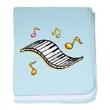 Piano Music baby blanket