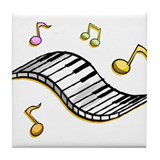 Piano Music Tile Coaster
