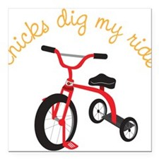 """My Ride Square Car Magnet 3"""" x 3"""""""