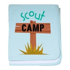 Scout Camp baby blanket