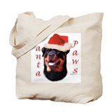 Santa Paws Rottweiler Tote Bag
