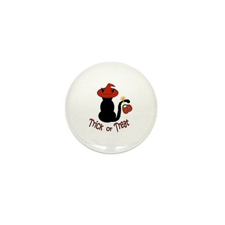 Halloween Cat in the Hat Mini Button