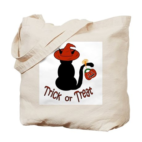 Halloween Cat in the Hat Tote Bag