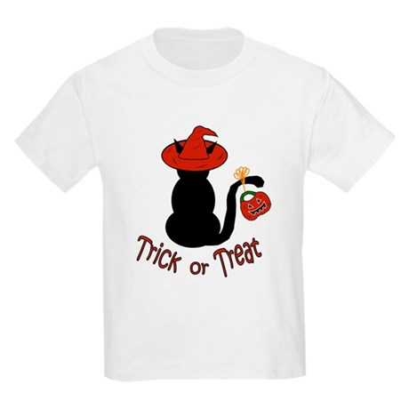 Halloween Cat in the Hat Kids T-Shirt