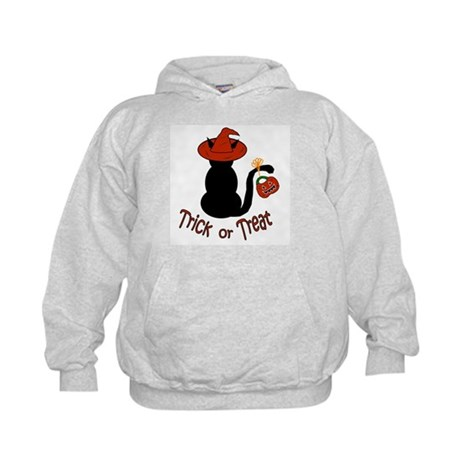Halloween Cat in the Hat Kids Hoodie