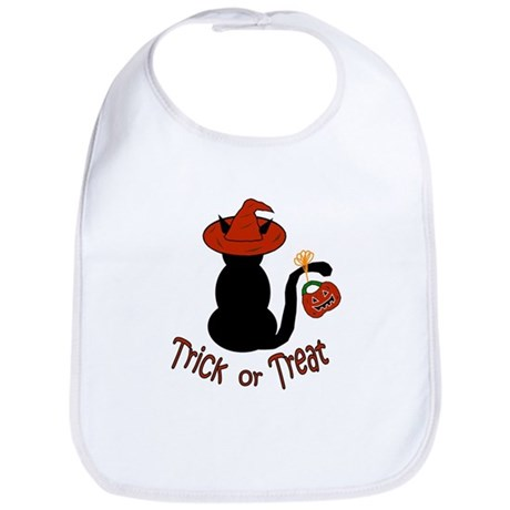 Halloween Cat in the Hat Bib