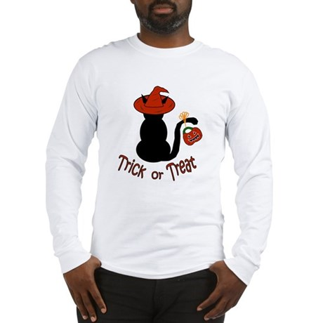 Halloween Cat in the Hat Long Sleeve T-Shirt