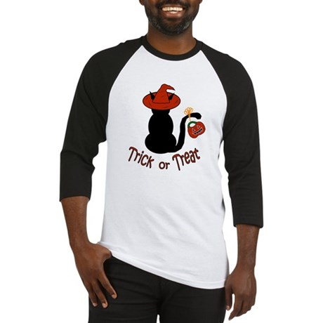 Halloween Cat in the Hat Baseball Jersey