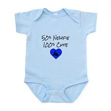 50% Newfie - 100% Cute Infant Bodysuit