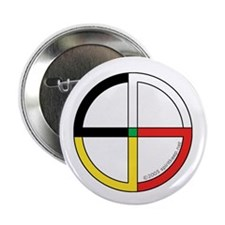 "Four Directions Symbol 2.25"" Button (10 pack)"
