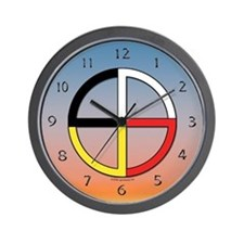 Four Directions Symbol Wall Clock