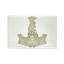 Mjolnir Gold Rectangle Magnet (100 pack)