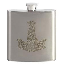 Mjolnir Gold Flask
