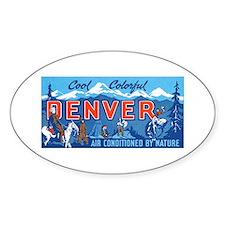 Denver Colorado Oval Decal