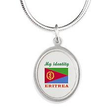 My Identity Eritrea Silver Oval Necklace