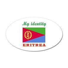 My Identity Eritrea 20x12 Oval Wall Decal
