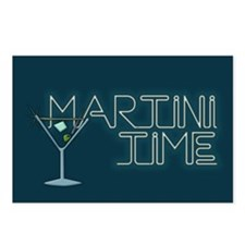 Martini Time Retro Lounge Postcards (Package of 8)