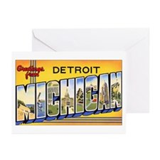 Detroit Michigan Greeting Cards (Pk of 10)