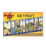 Detroit Michigan Postcards (Package of 8)