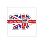 PhillyMINI 10th Anniversary Square Sticker 3