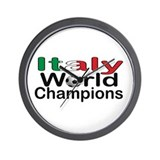 Italy World Champions Wall Clock