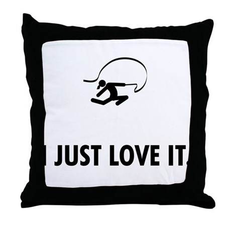 Rhythmic Gymnastic Throw Pillow