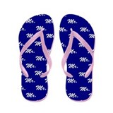 Blue Mr and Mrs flip flops - for him