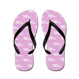 Pink Mr and Mrs flip flops - for her