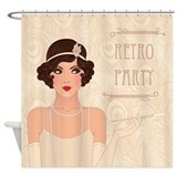 Charleston Retro Party Shower Curtain