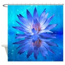 Blue Water Lily Shower Curtain