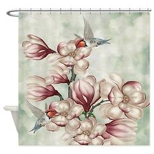 Magnolia Colibries Shower Curtain