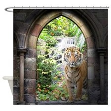 Jungle Tiger Waterfall Shower Curtain