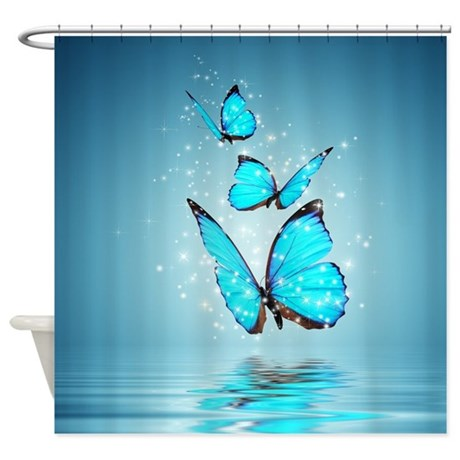 magic butterflies shower curtain by showercurtainshop