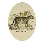 Ocelot Ornament (Oval)