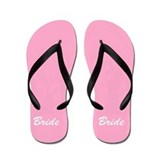 Bride and Groom flip flops - for her