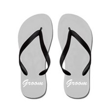 Bride and Groom flip flops - for him