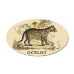 Ocelot 35x21 Oval Wall Decal