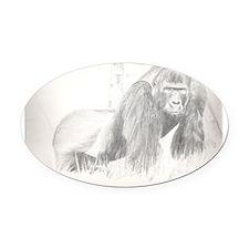 Gorilla Oval Car Magnet