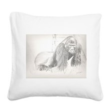 Gorilla Square Canvas Pillow