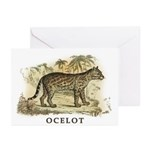 Ocelot Greeting Cards (Pk of 10)