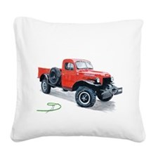 Antique Power Wagon Square Canvas Pillow