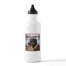 Doberman at Lake Ella Sports Water Bottle