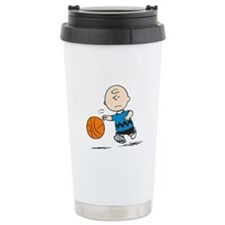 Basketballer Brown Ceramic Travel Mug