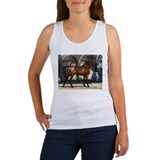 Bay Arabian Stallion with Background Women's Tank