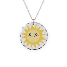Cute happy sun Necklace
